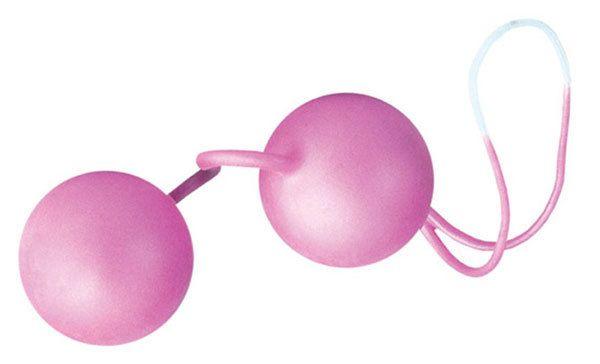 Розовые вагинальные шарики со смещенным центром тяжести