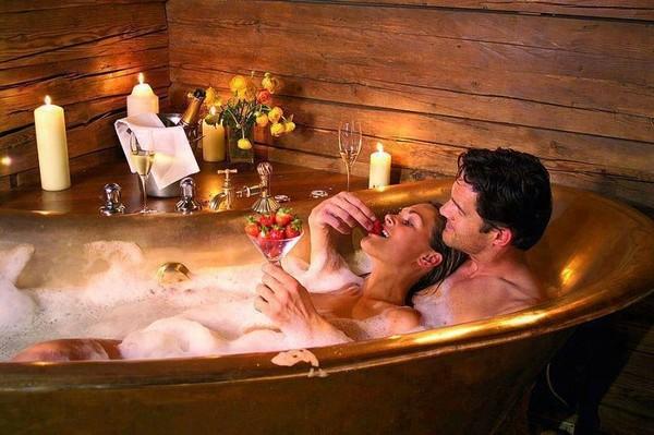 Романтический вечер в ванне