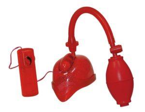 Красная женская вакуумная помпа